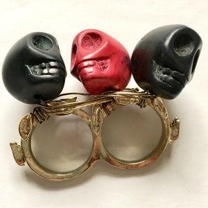ASOS 2 finger skull ring
